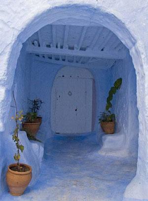 Entrada a una vivienda de Chaouen